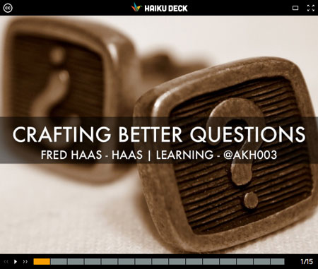 Image: Crafting Better Questions Presentation Still