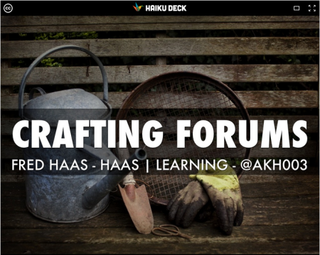 Image: Crafting Forums Presentation Slide
