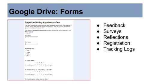 Image: Google Drive Forms