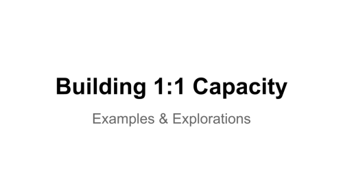 Image: Building 1:1 Capacity