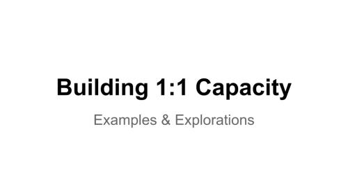 Image: Building 1:1 Capacity