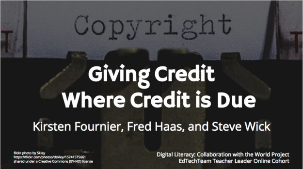 Image: Title Slide for Giving Credit Where Credit is Due Slide Presentation